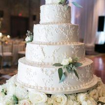 wedding cake, detail, roses, flowers