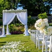 ceremony at cheekwood gardens, nashville, florist