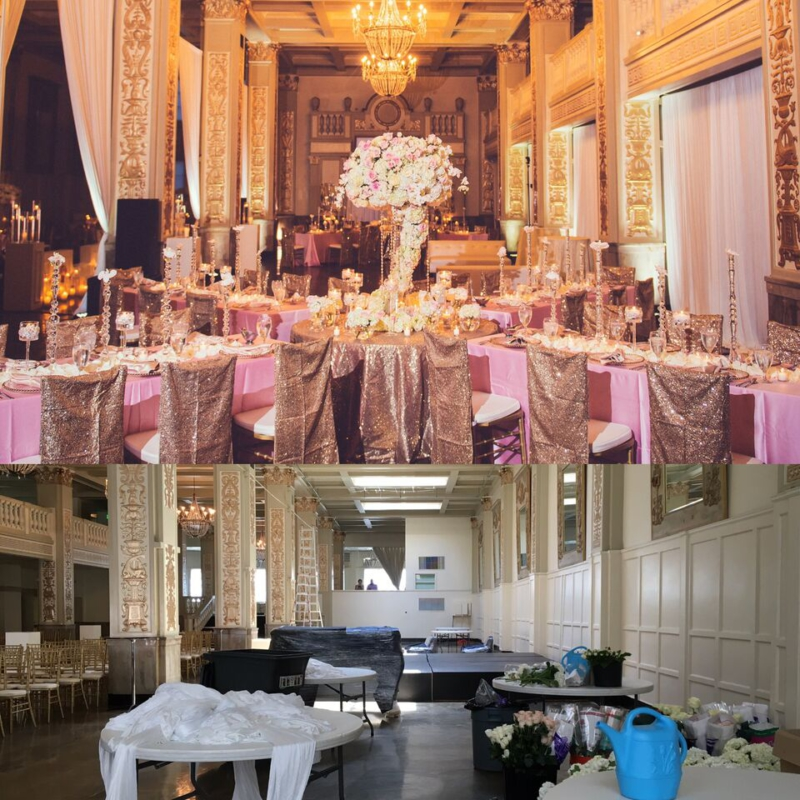 reception, before and after, memphis wedding