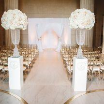 ceremony, large centerpieces, altar, flowers