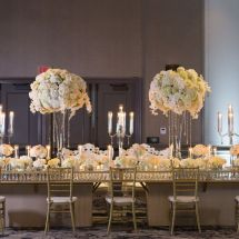 centerpieces, candles, decor, candleabras, lush florals, white and blush wedding