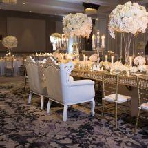chairs, centerpieces, floral design