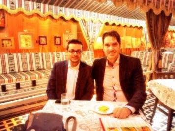 Elliott King and Mohammed, Abu Dhabi, 2013