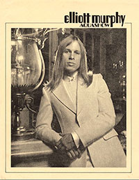 Elliott Murphy - 1973 Aquashow Press Kit