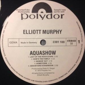 Elliott Murphy - Aquashow - German Vinyl Promo