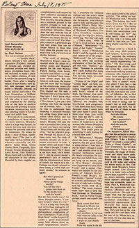 Elliott Murphy - 1975 Rolling Stone Lost Generation Review