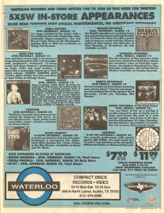 Waterloo Records In-Store Ad 1993