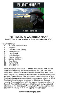 Elliott Murphy - It Takes A Worried Man One Sheet