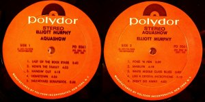 Elliott Murphy - Aquashow - Second Pressing