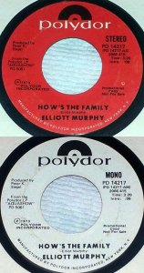 Elliott Murphy - How's The Family - US Promo 45