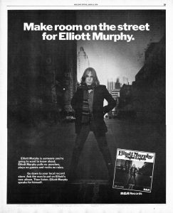 Elliott Murphy - Night Lights Rolling Stone Ad