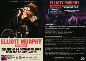 Elliott Murphy - Arles Concert Flier 2019