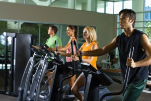 People Using Elliptical Trainers