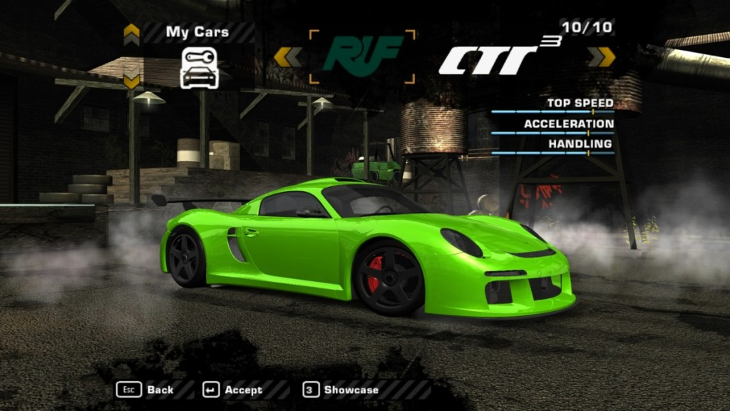 RUF CTR3 Mod for NFS: Most Wanted | The Ellis Workshop