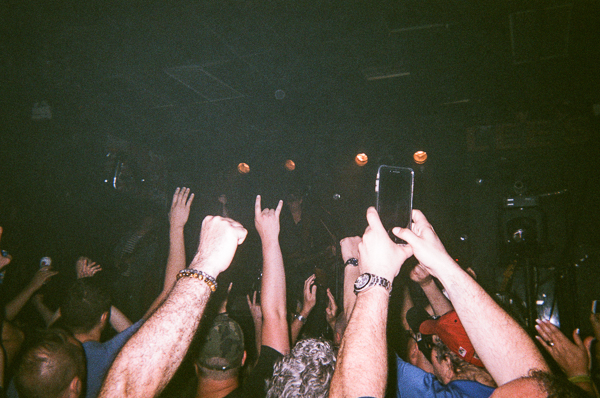 hands at a rock and roll concert