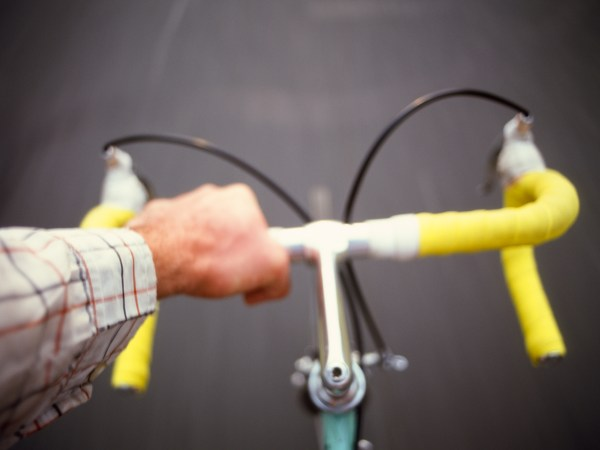 A picture of riding bikes.