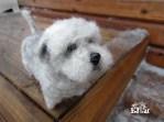 koira; huopakoira; lemmikki; miniatyyri; lahja koiran omistajille; koiranomistaja; oman koira; rakas koira; koiran näyttely; lahja; lahjaksi; paras lahja; villakoira; huovutus; käsityö; taide; tehty suomessa; glenni