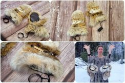 turkistuotteet, ilves rukkaset, talvi metsästyskäsineet, Metsästyshanskat