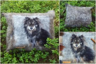 Pillow with pet portrait | Elena Bondar