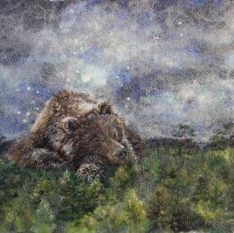 wool painting, artist