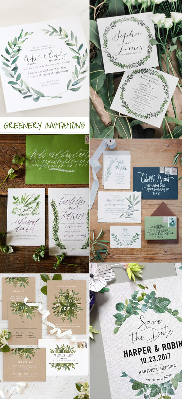 ellwed greenery-wedding-invitation-trends-for-2017 Create Beauty with Fonts + Free Printable