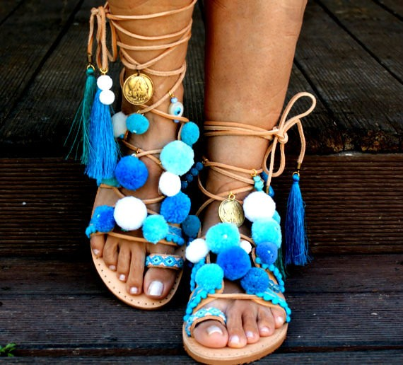 ellwed il_fullxfull.1219402335_3kv0 24 Summer Beach Wedding Sandals from Greece that You Can Find on Etsy