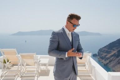 ellwed BenWyattPhotography-20 Blush and Gold Luxury Chic Santorini Wedding