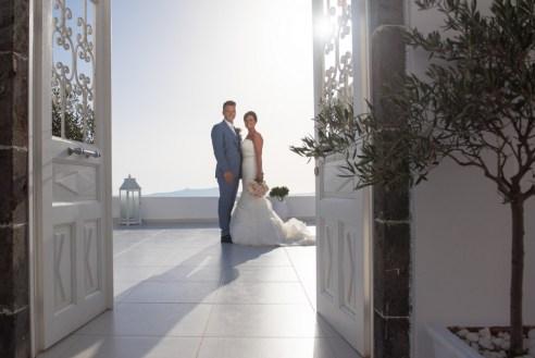 ellwed BenWyattPhotography-63 Blush and Gold Luxury Chic Santorini Wedding