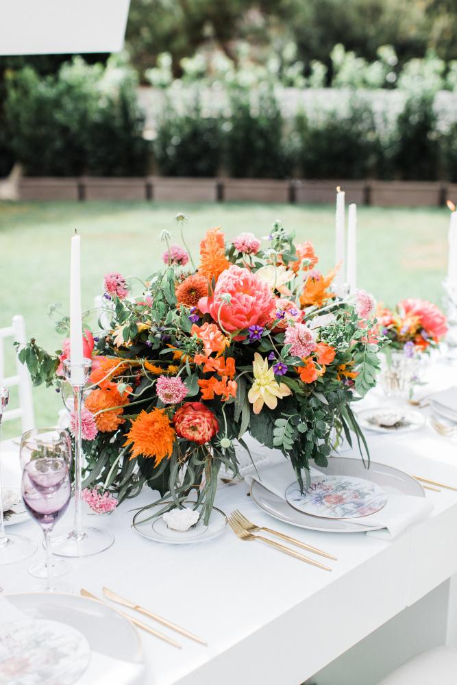 Table centre floral arrangement