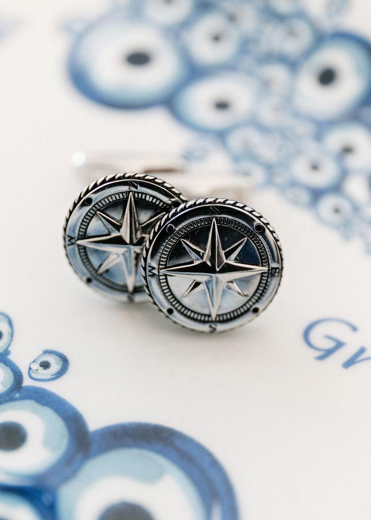 grooms navy cufflinks