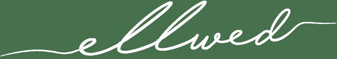 Ellwed Logo in White