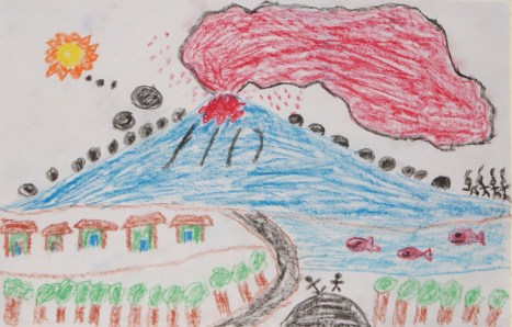 Drawing by Dendi in Tangkil