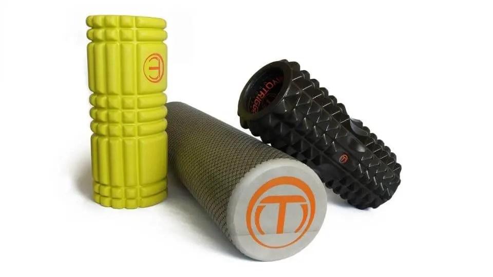 Trigger point release-half sized foam rollers