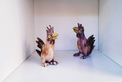 Keramik fugle - Elly Pedersen Keramik