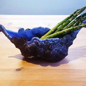 Blå skål - Elly Pedersen Keramik