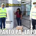 Reparto pa´ la foto de funcionarios de Quintana Roo en ayuda alimentaria