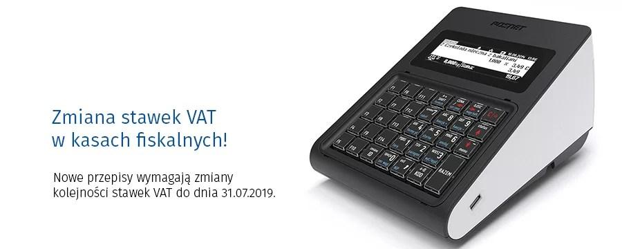 Zmiana VAT w urządzeniach fiskalnych.