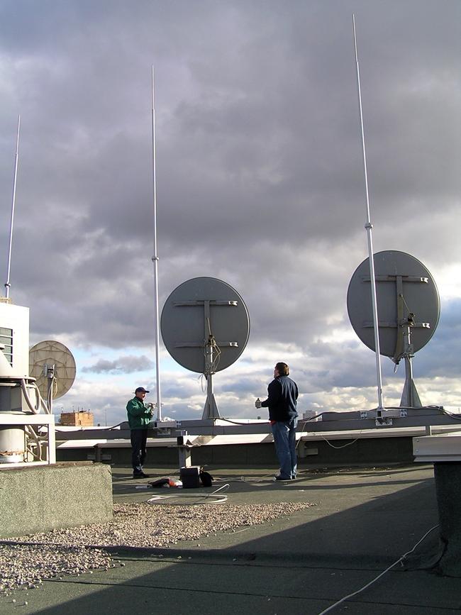 Молниеприемник МСС-1.2Ф-7000ГЦ на кронштейне