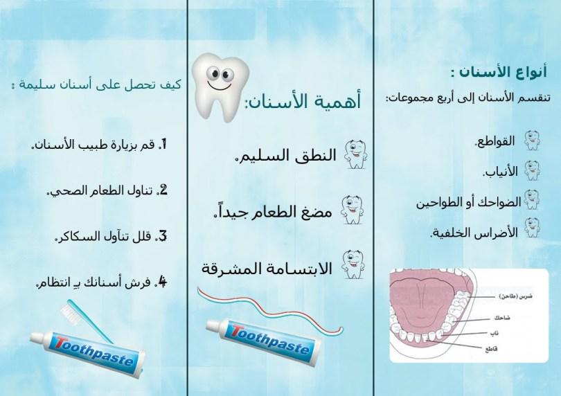 مطويات جاهزه عن نظافة الاسنان