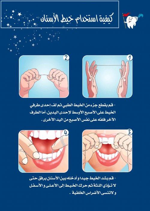 استخدام خيط الاسنان