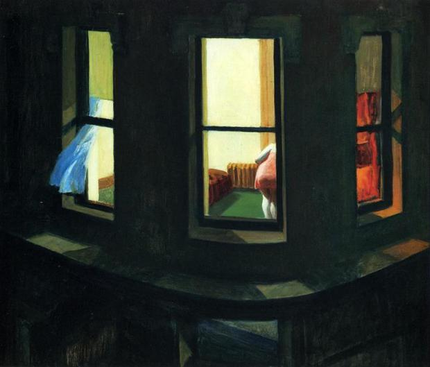 إدوارد هوبر، نوافذ ليلية 1928