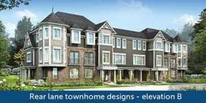 Rear Lane Townhome Design - Elevation B