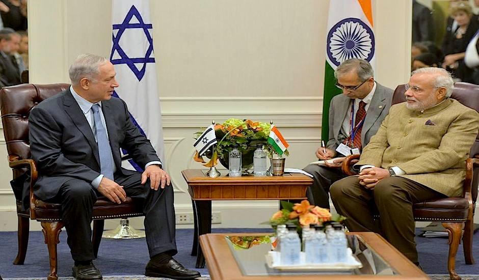 Reunión de los primeros ministros de Israel y la India