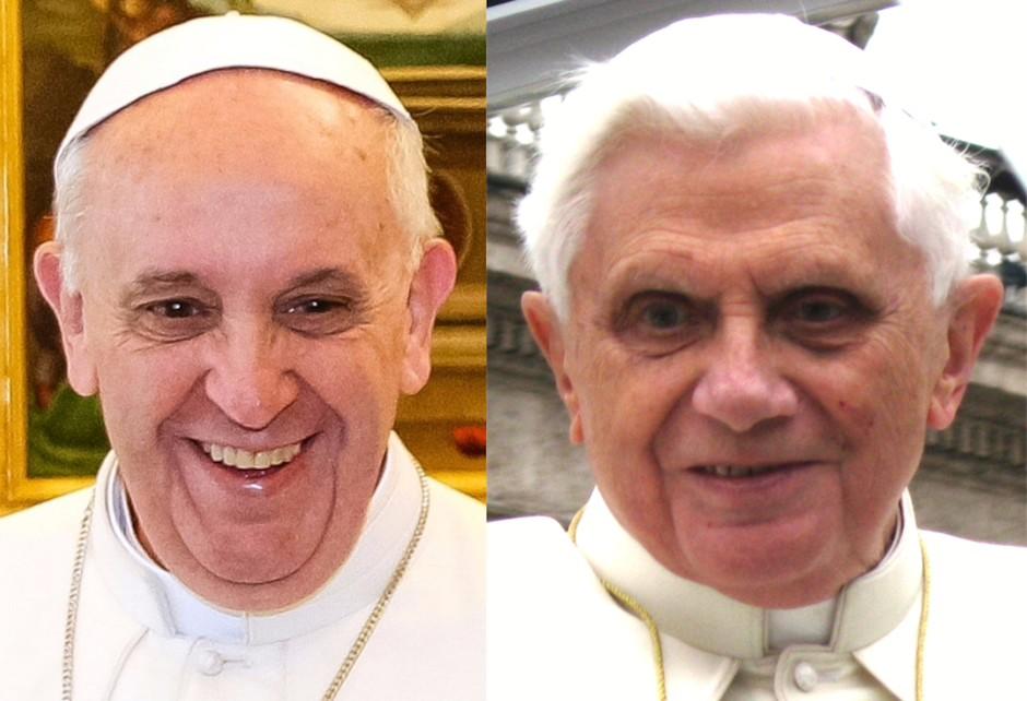 Francisco y Benedicto XVI.