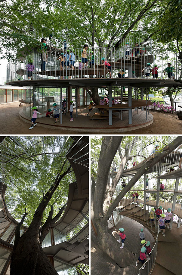 This Japanese Kindergarten Is Built Around A Tree