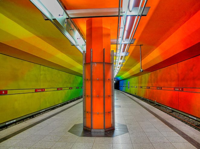 Georg-Brauchle-Ring, Marienplatz and Candidplatz U-Bahn Stations, Munich, Germany