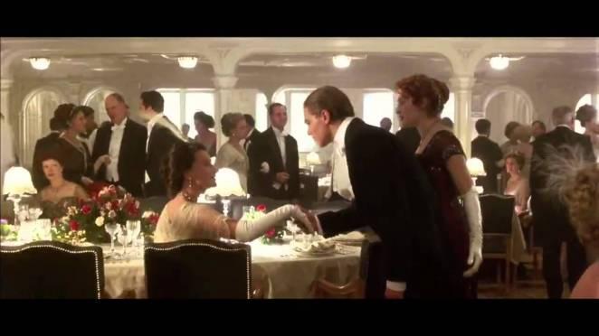 Resultado de imagen para titanic jack diners in first class