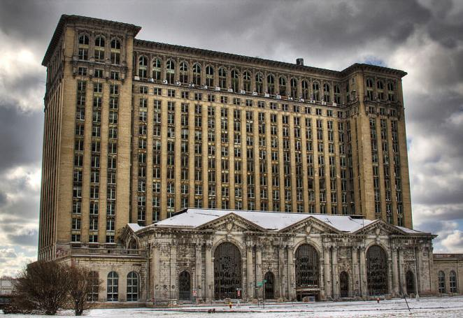 Michigan Central Station in Detroit, U.S.A.
