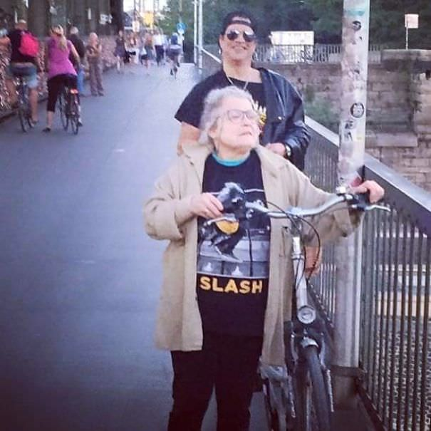 The Old Lady Is A Slash Fan, But She Doesn