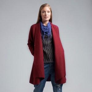 New Elegant Coat Alpaca Wool